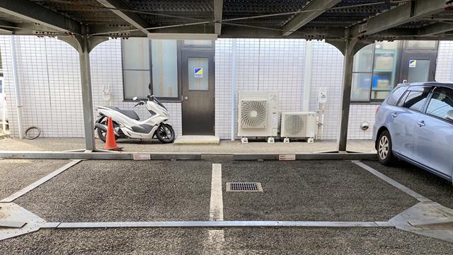 こちらに2台駐車できます